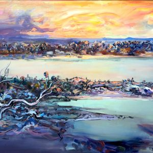 """Wim Boissevains's """"Approaching Storm"""" oil painting product"""