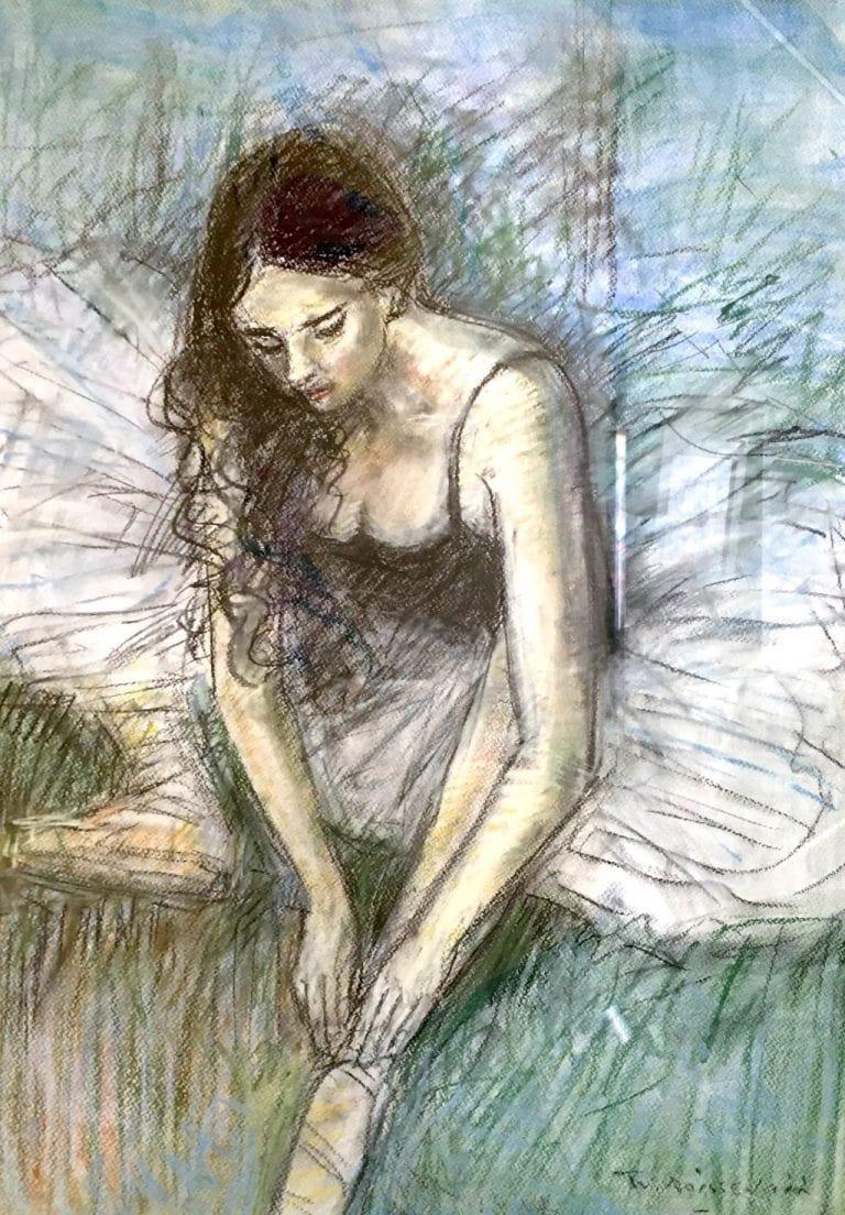 "Wim Boissevains's ""Ballerina"" oil painting product"