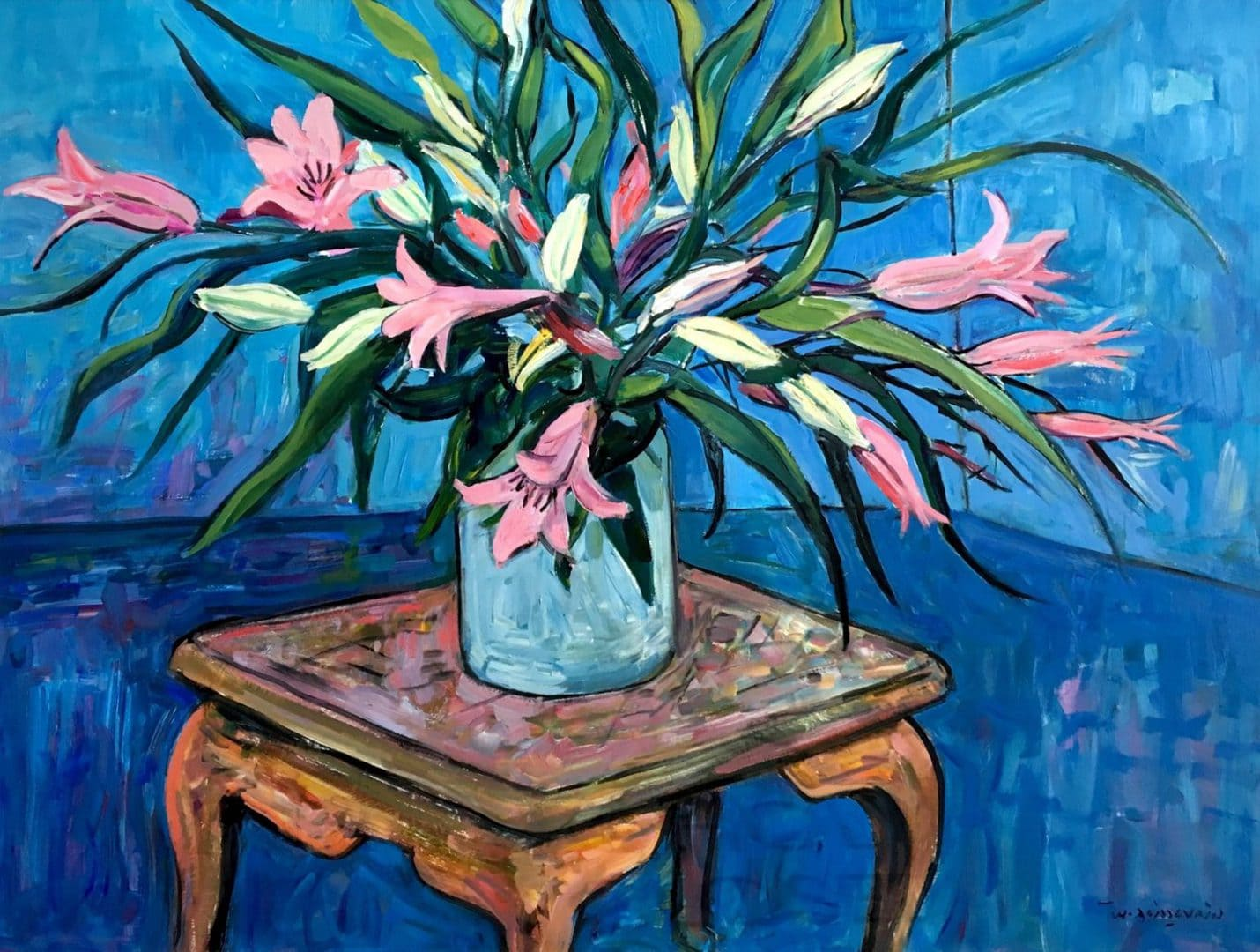 """Wim Boissevains's """"Flowers on a Table"""" oil painting product"""