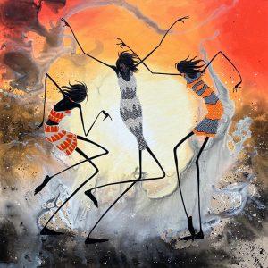 Judy Prosser Three Desert Dancers Print
